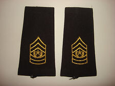 Pair Of US Army COMMAND SERGEANT MAJOR Rank (Male) Shoulder Badges Epaulets