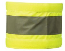 2 x Extra Large Reflective Hi Visibility Arm Band Yellow