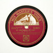 "LOUIS ARMSTRONG ORCHESTRA ""St Louis Blues / Sweet Sue"" (EE+) HMV B-4975 [78 RPM]"
