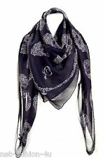 Alexander MCQUEEN Art Nouveau Multi Teschio Sciarpa di seta nuovo con etichetta