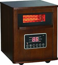NEW DURA HEAT DH2000C CHESTNUT FINISH 1500 WATT INFRARED ELECTRIC HEATER 3749843