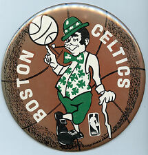 Boston Celtics Button Large 6 inch Vintage Pin