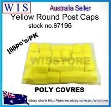 100pcs/PK Construction Safety Caps,Yellow Post Caps For Star Pickets-67196