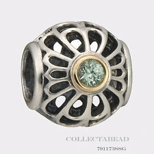 Authentic Pandora Sterling Silver & 14kt Vintage Allure Bead 791173SSG