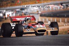 9x6 Photograph Alex Soler-Roig  F1 Lotus-Cosworth 49C , Spanish GP Jarama 1970