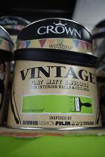 Crown Vintage Flat Matt Emulsion Paint For Interior Walls Ceilings Green Code