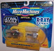 Star Wars Space Micro Machines X-Ray Fleet Collection I TIE & AWING Fighter NIP