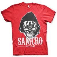 Sons Of Anarchy SAMCRO Est. 1967 Dark Reaper Männer Men T-Shirt Rot Red