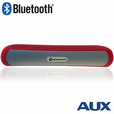 Bluetooth Speaker Wireless Speaker with MP3 Player, AUX & Mic - RED