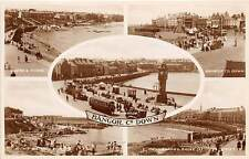 BANGOR, COUNTY DOWN, N. IRELAND ~ TOWN MULTIVIEW, REAL PHOTO PC ~ circa 1930s