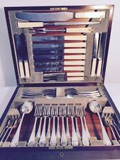 ANTIQUE Silver Plated Flatware Sheffield London Cavendish Service for SIX w/Box