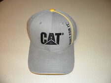 Caterpillar gray built for life hat embroidered CAT Logo