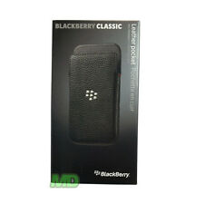 NEW Genuine BlackBerry Classic Q20 Black Leather Pocket Cover Case ACC-60087-001