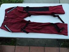 Womens Industrial / Club Kid / Goth Red Pants in Size Small