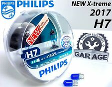 NEW Philips H7 Xtreme Vision 2017 +130% Headlight Bulbs 12V 55W PX26d + Blue W5W