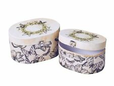 Set of 2 Boxes Decorative Large Storage  or as a  Gift Box Strong Cardboard