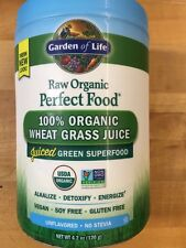100 % Organic Wheat Grass Juice Green Superfood 4.2oz Garden Of Life