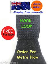 50mm, Hook & Loop Tape, Self Adhesive Black- Good Grip , Hook & Loop Fastener