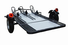 Motorcycle Utility Trailer 3 Rail Foldable ATV Used for Harley Gold Wing