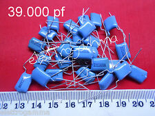 Condensatore Poliestere 39.000 pF picoFarad 100 volt p 5      25 pezzi