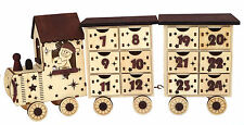 "Wooden ""antique look"" Train Advent Calendar with two carriages."