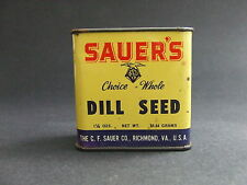 Sauer's Brand Dill Seed Spice Tin Vintage Advertising Richmand VA