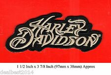 HARLEY DAVIDSON MOTORCYCLE RARE Stylish Patch Badge Applique Embroidered JACKET
