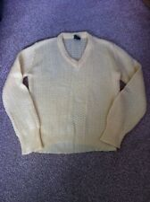 Vintage Lemon BHS Knitted Jumper Size 12 1970's Yellow V Neck Top