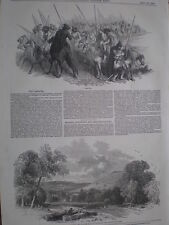 Russia Cossacks 1849 old print and article my ref T