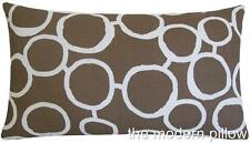 """Light Brown/White Freehand decorative throw pillow cover/cushion cover 12x20"""""""