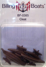 Billing Boats Accessory BF-0385 - 30mm Cleat x 6 Brown Plastic - 1st Class Post
