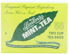 Boston Tea Mint-In-Tea, 50-Count Boxes (Pack of 6) , New, Free Shipping
