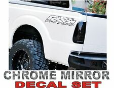 4x4 Fx4 Truck Bed Decals, CHROME (Set) for Ford F-150 and Super Duty
