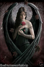 ANNE STOKES ANGEL ROSE  - 3D CULT FANTASY FLIP PICTURE 300mm x 400mm