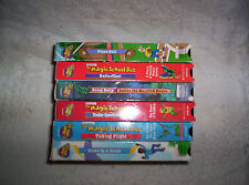6 VHS lot (7 stories) Magic School Bus Going Batty Haunted House Construction +