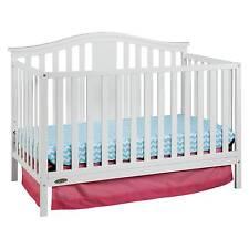 Graco Solano 4-in-1 Convertible Crib with Bonus Mattress - White