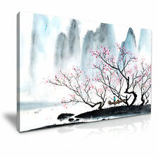 Chinese Landscape Blossom Painting Canvas Wall Art Picture Print 76x50cm 10