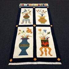 Orient Teppich Nepal 180 x 95 cm Vasenbild Bildteppich Handgeknüpft Carpet Rug