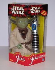 Star Wars Interactive Yoda & Lightsaber Over 450 Words NIB Hasbro 2000