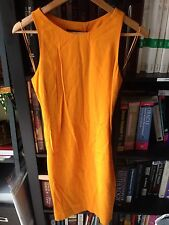 Zara Women Mustard Yellow Sleeveless Dress Size S