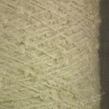 SUPER SOFT ARAN WEIGHT BOUCLE YARN CREAM IVORY 750g CONE 15 BALL POODLE KNITTING