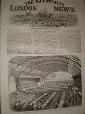 I ministri a ESERCITO VOLONTARI Drill Hall Bristol 1868 Old Print ref Z1