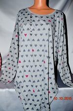 Victorias Secret HEARTS Night Gown Sleepshirt Pajama Pajamas NWT XL