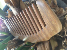 Sandalwood Handmade Beard And Mustache Comb Hair Brush Anti-Static Pocket Comb