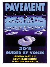 MG04 PAVEMENT GBV Original Silkscreen Concert Poster M.Getz 1994 Signed Mint