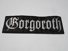GORGOROTH EMBROIDERED LOGO BLACK METAL PATCH
