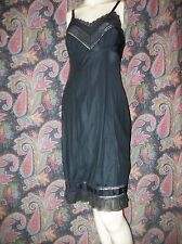 Vintage Adonna Silky Nylon Tricot Accordian Pleated Full Slip Lingerie 32