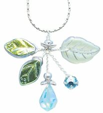 AQUAMARINE BOUQUET Faceted Crystals & Glass Necklace, Robin Goodfellow Designs