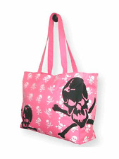 Pink Skull Canvas Bag - Free UK P&P