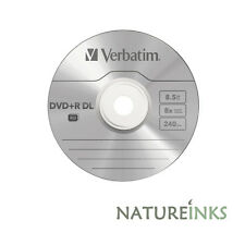 5 Verbatim Logo Dual Layer DVD+R 8x DL Double layer blank Discs 8.5GB